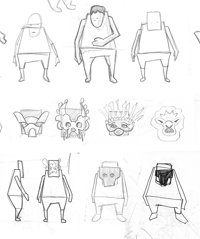 Character_With_Mask__Sketches2